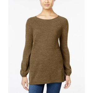 Style & Co Petite Boat-Neck Swing Sweater, PP